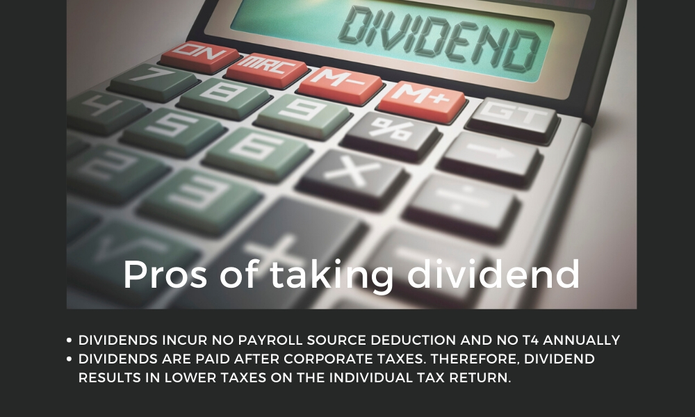 Pros of taking dividend